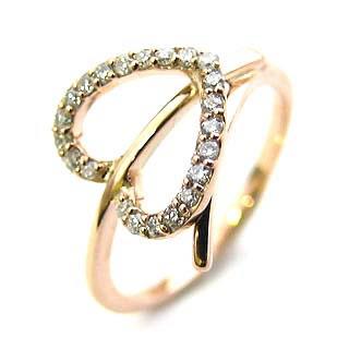 ( K18PG ) ダイヤモンドリング 【DEAL】