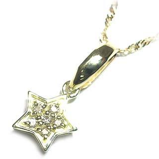 K18ダイヤモンドペンダントネックレス(星モチーフ) 【DEAL】 末広 スーパーSALE