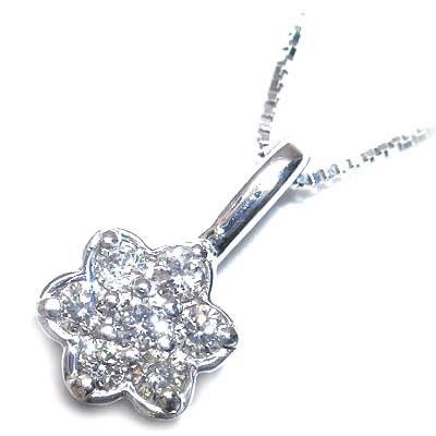 ( 4月誕生石 ) K18ホワイトゴールドダイヤモンドペンダントネックレス 【DEAL】 末広 スーパーSALE