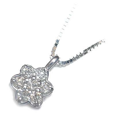 ( 4月誕生石 ) K18ホワイトゴールドダイヤモンドペンダントネックレス 【DEAL】