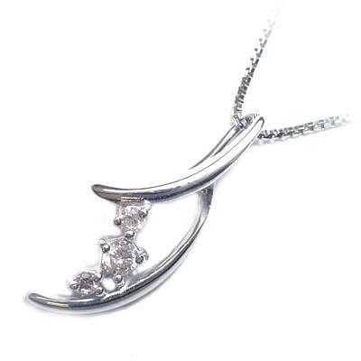 ( 4月誕生石 ) K18ホワイトゴールド ダイヤモンドペンダントネックレス 【DEAL】