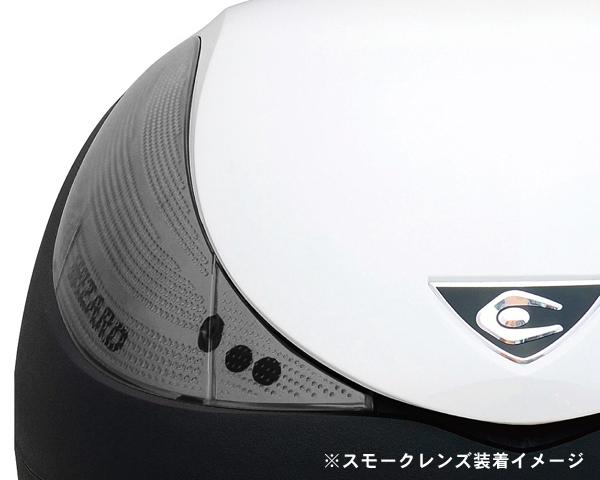COOCASE(クーケース) V36 WIZARD(ウィザード)SPEC-F2 CN36112 パールホワイト/スモークレンズ テールボックス トップケース 36L リアボックス