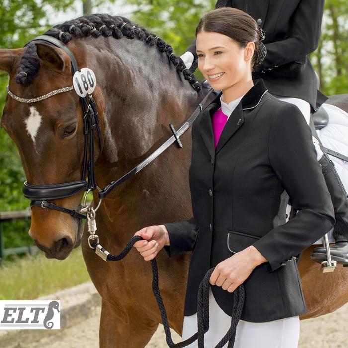 【送料無料】ELT ショージャケット WJL1(ブラック) 女性用 | 競技用 ジャケット じょうらん 上着 レディース 女性 ウェア コンペティション 黒 競技会 競技 競技会用 競技用 大会 大会用 馬具 馬 乗馬 乗馬用 乗馬用品