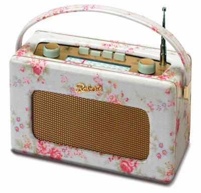 レトロラジオロバーツラジオキャスキッドソンローズ柄【ROBERTS RADIO】英国 R250 限定仕様