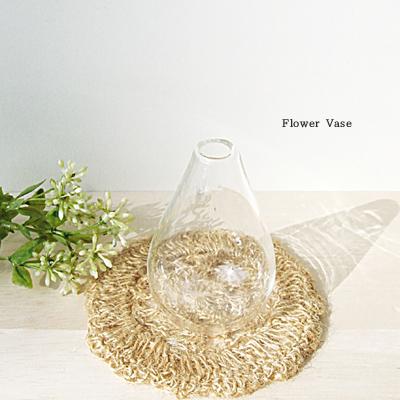 ≪花瓶≫シンプルに飾りたい ティアドロップ型フラワーベース ガラス 花瓶 花器 フラワーベース ガラス一輪挿し 訳あり商品 シンプル ミニベース ガラス小物 ミニ花瓶 当店は最高な サービスを提供します シンプルに飾りたい プレゼント ギフト ラッピング ガラス細工 インテリアガラス