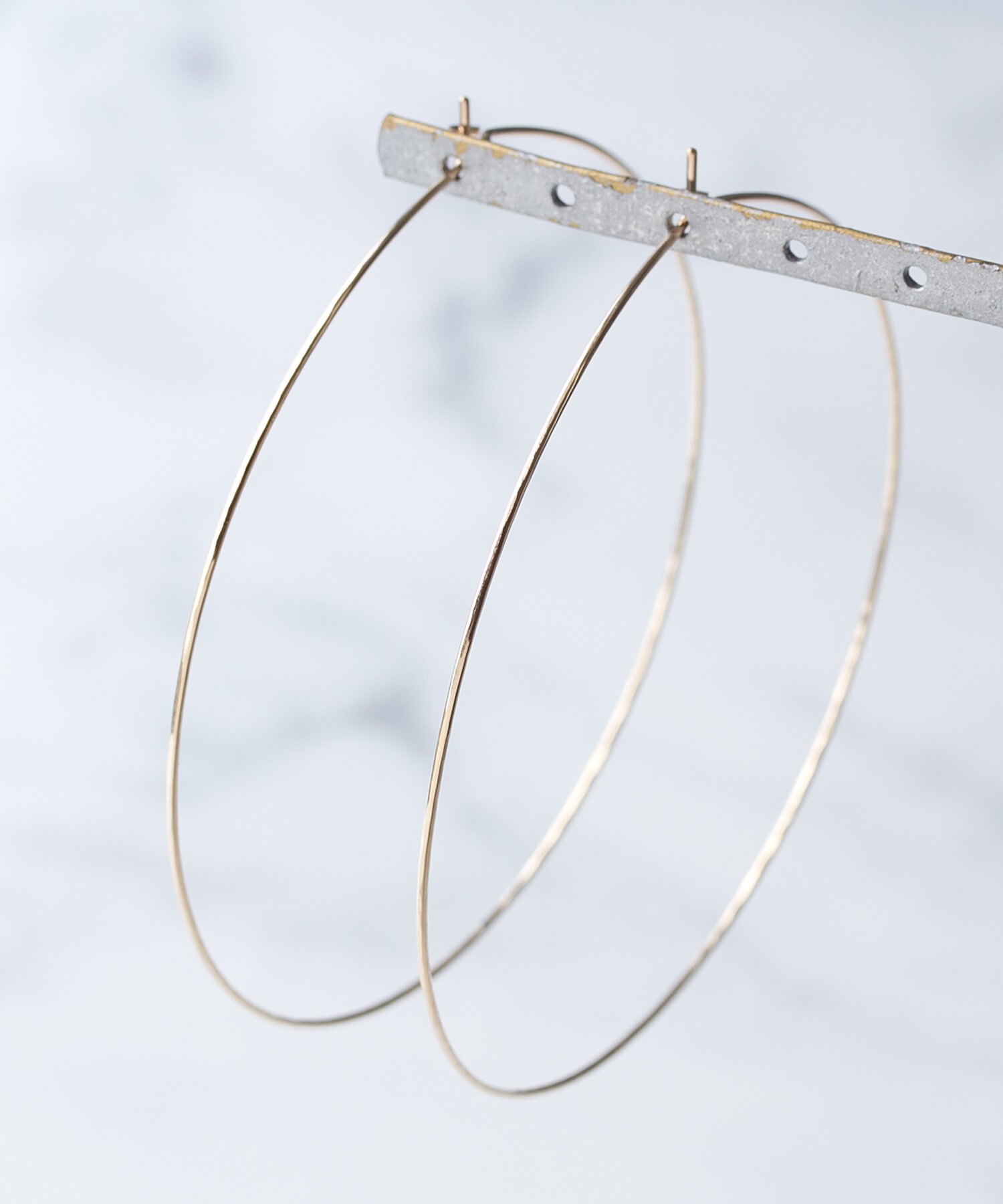 CLASSY April issue published ★ JUICYROCK original ★ hoop earrings gold Gold Big Hoop