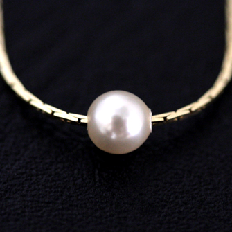10%OFF ☆ JUICYROCK original ★ necklace gold & pearl Tiny One Pearl Neckalce