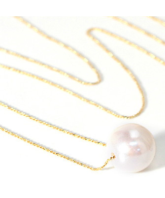 10%OFF ☆ VERY1 month issue publication ★ JUICYROCK original ★ long necklace gold & pearl One Big Pearl Long Necklace