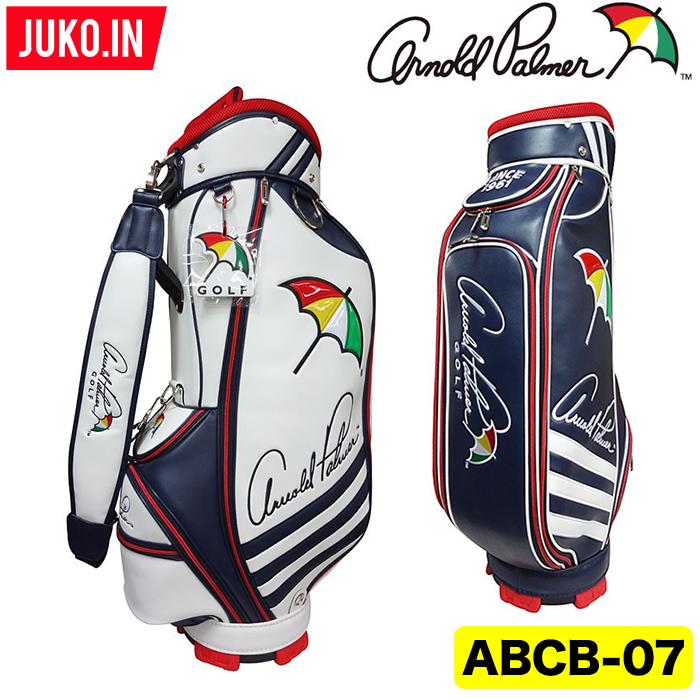 【超人気】APCB-07 アーノルドパーマー ゴルフ キャディバッグ ホワイト・ネイビーJUKO.IN グルッペ 取寄品