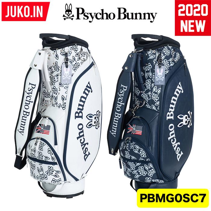 【在庫有・即出荷!クーポン有】PBMG0SC7 サイコバニー モノグラム キャディバッグ Psycho Bunny GOLF  日本正規品 JUKO.IN GOLF グルッペ