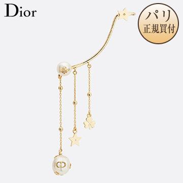 新品 Dior ディオール ピアス イヤージュエリー PERLES DE DESIR ホワイト×ゴールド [フランス・ファッション・アクセサリー・イヤリング・ピアス]