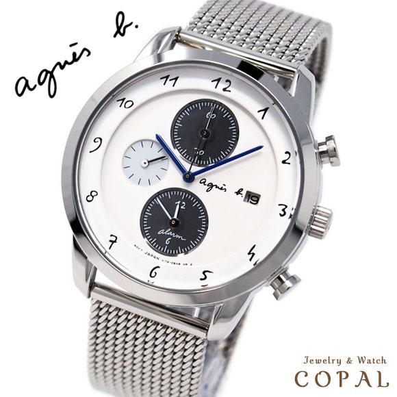 アニエスベー 時計 メンズ FBRD944 MARCELLO マルチェロ シルバー ソーラー メッシュ クロノグラフ アニエス 腕時計 誕生日 記念日 プレゼント ペアウォッチ にもオススメ