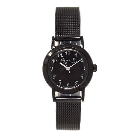 アニエスベー 腕時計 レディース FBSD943 MARCELLO マルチェロ ブラック ソーラー アニエス 時計 ペアウォッチ 誕生日 プレゼント 記念日 プレゼント