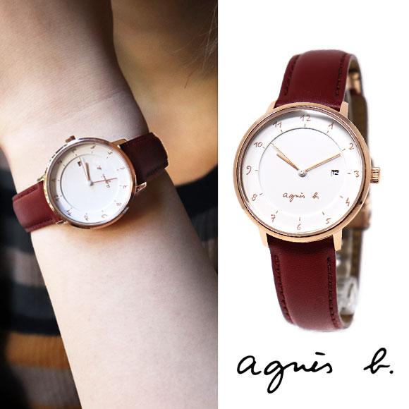 アニエスベー 時計 FBSK945 マルチェロ レッド ピンクゴールド marcello agnes b. アニエス 腕時計 誕生日プレゼント 記念日 母の日 プレゼント