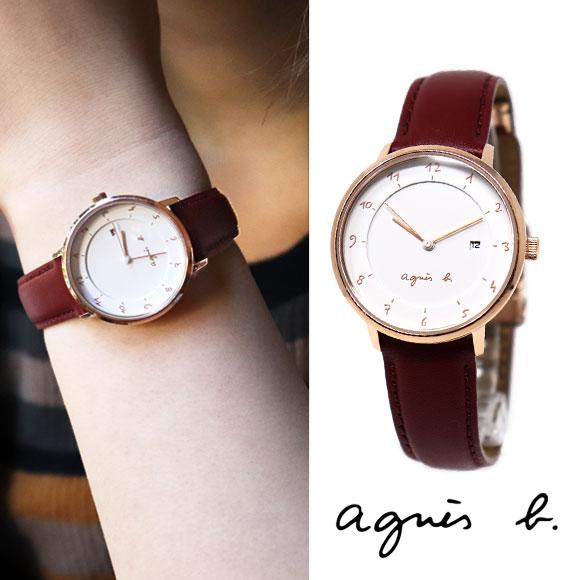アニエスベー 時計 FBSK945 レッド ピンクゴールド agnes b. アニエス 腕時計 誕生日プレゼント 記念日 プレゼント