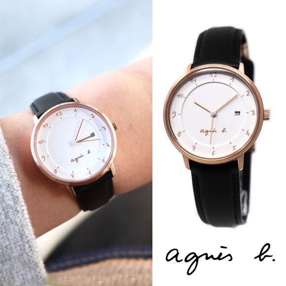 アニエスベー 時計 FBSK946 ブラック ピンクゴールド agnes b. アニエス 腕時計 誕生日プレゼント 記念日 母の日 プレゼント