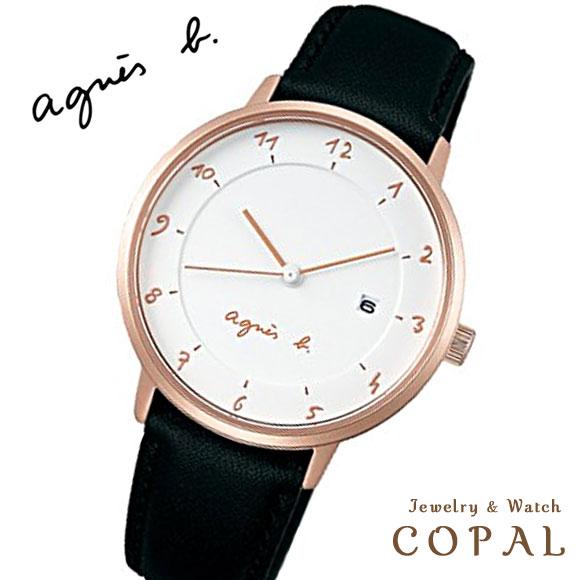 アニエスベー 時計 FBSK946 ブラック ピンクゴールド agnes b. アニエス 腕時計 誕生日プレゼント 記念日 プレゼント