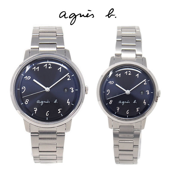 アニエスベー 時計 ペアウォッチ FCRK990 FCSK934 ペア ネイビー シルバー メンズ レディース アニエス 腕時計 誕生日プレゼント 記念日 プレゼント
