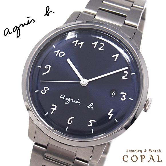 アニエスベー 時計 メンズ FCRK990 ネイビー シルバー アニエス 腕時計 誕生日プレゼント 記念日 プレゼント