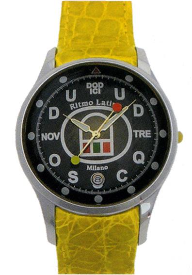 【Ritmo Latino腕時計フィーノ(ブラック/バンド:イエロー)ラージサイズ】圧倒的な「存在感」・「楽しさ」「遊び心」・「情熱」を感じさせてくれます。【リトモラティーノ】