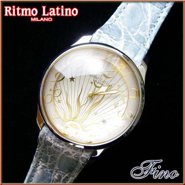 【Ritmo Latino腕時計フィーノ(シルバー/バンド:ライトグレー)ラージサイズ】圧倒的な「存在感」・「楽しさ」「遊び心」・「情熱」を感じさせてくれます。【リトモラティーノ】