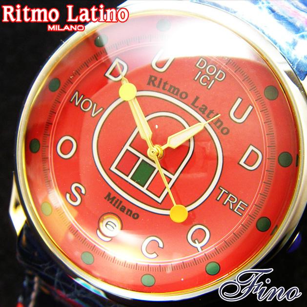 【Ritmo Latino腕時計フィーノ(イタリアンレッド/マルチカラーバンド)レギュラーサイズ】圧倒的な「存在感」・「楽しさ」「遊び心」・「情熱」を感じさせてくれます。【リトモラティーノ】