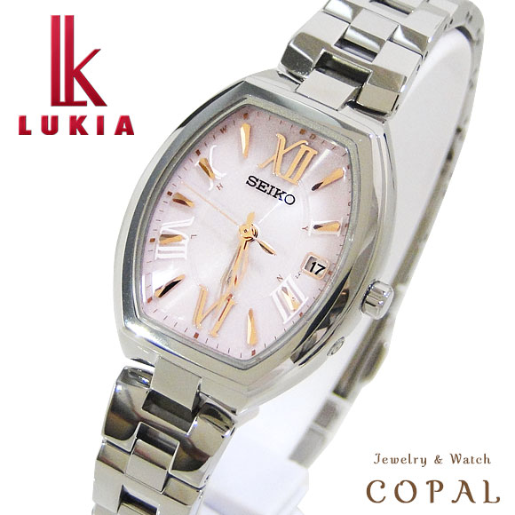 【時計クロス付き】セイコー ルキア LUKIA SSQW025 ソーラー電波 腕時計 レディース トノー型 綾瀬はるか イメージキャラクター
