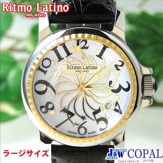 【モデルサイズの女性にも人気のRitmo Latino(リトモラティーノ)腕時計stella(ステラ)ブラック・ラージサイズ(メンズ)】リトモ人気の定番腕時計!
