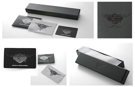 哈雷-Davidson Harley Davidson (R) 的蒂埃里 · 马蒂诺 / 水钻 / 银 /...