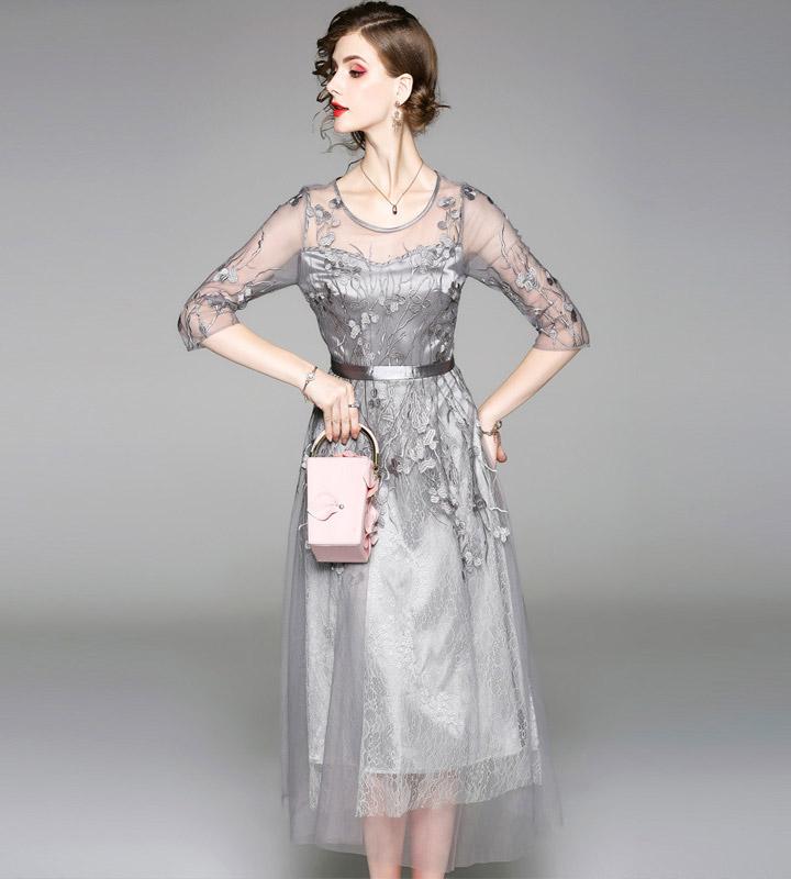 51cc0c69392f9 パーティードレスワンピース演奏会結婚式ドレス結婚式フォーマル二次会お呼ばれミディアムレディース大きい