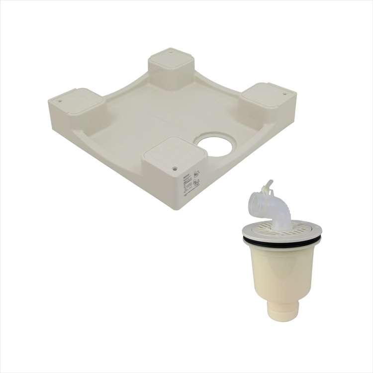 GAONA ガオナ洗濯機パンと排水トラップセット 水滴から守るかさ上げにおい防止防虫効果縦排水用 格安激安 GA-LF018 トラスト
