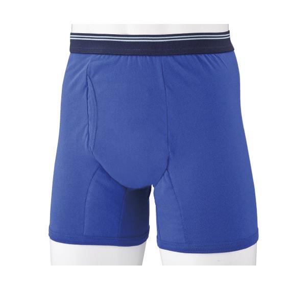 若々しくなれると好評のブルー色 薄型のパッドがしっかり吸収 購入 新ダンディ粋 ボクサー 5枚組 当店限定販売 ブルー 軽