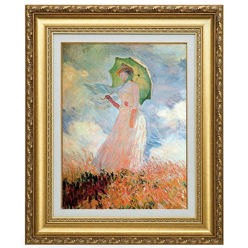 複製名画 モネ 「日傘を持つ女」 美術品 レプリカ