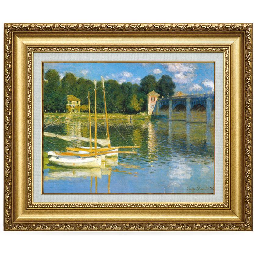 モネ アルジャントゥイユの橋 複製名画 正規品送料無料 国内正規品 美術品 レプリカ