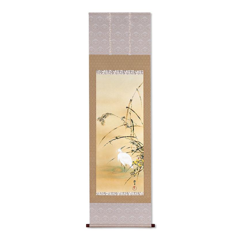 複製掛軸 酒井抱一 十一月 「十二か月花鳥図」 酒井抱一 十一月 「芦に白鷺図」, 天平キムチ:55ec332b --- sunward.msk.ru