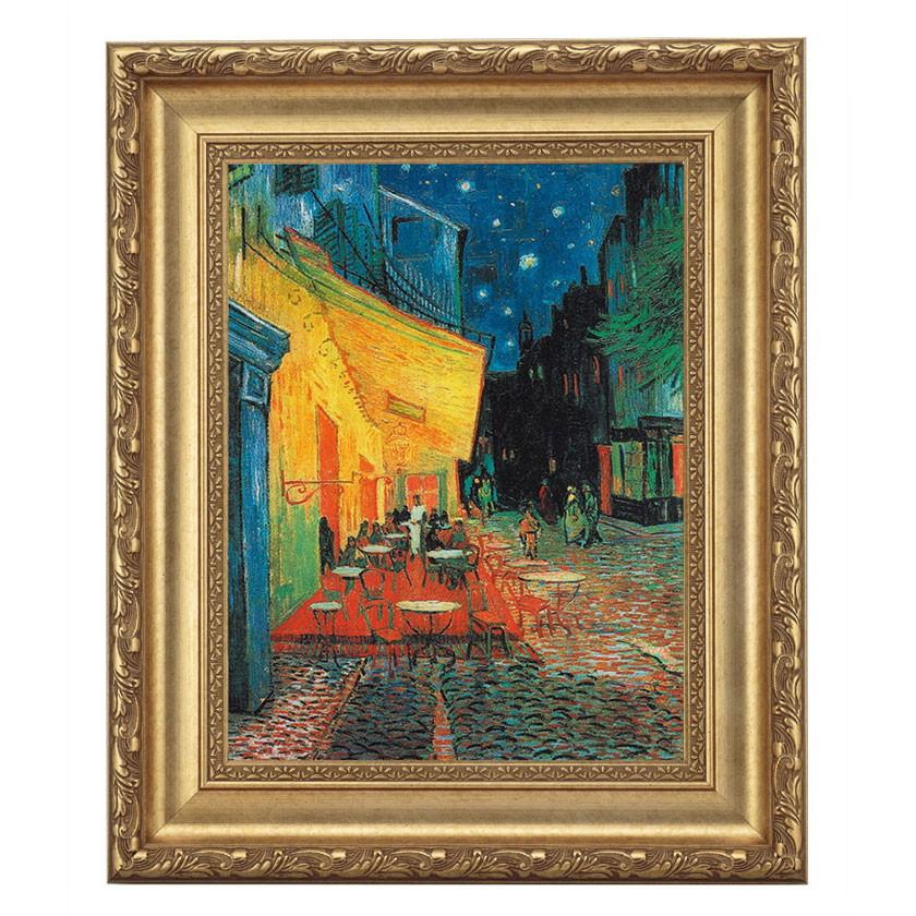 ゴッホ「夜のカフェテラス」 4号サイズ 立体複製名画 美術品 レプリカ
