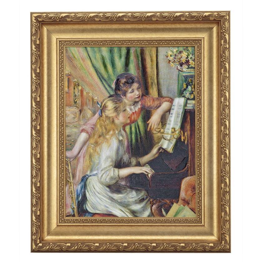 ルノワール「ピアノに寄る少女たち」 4号サイズ 立体複製名画 美術品 レプリカ