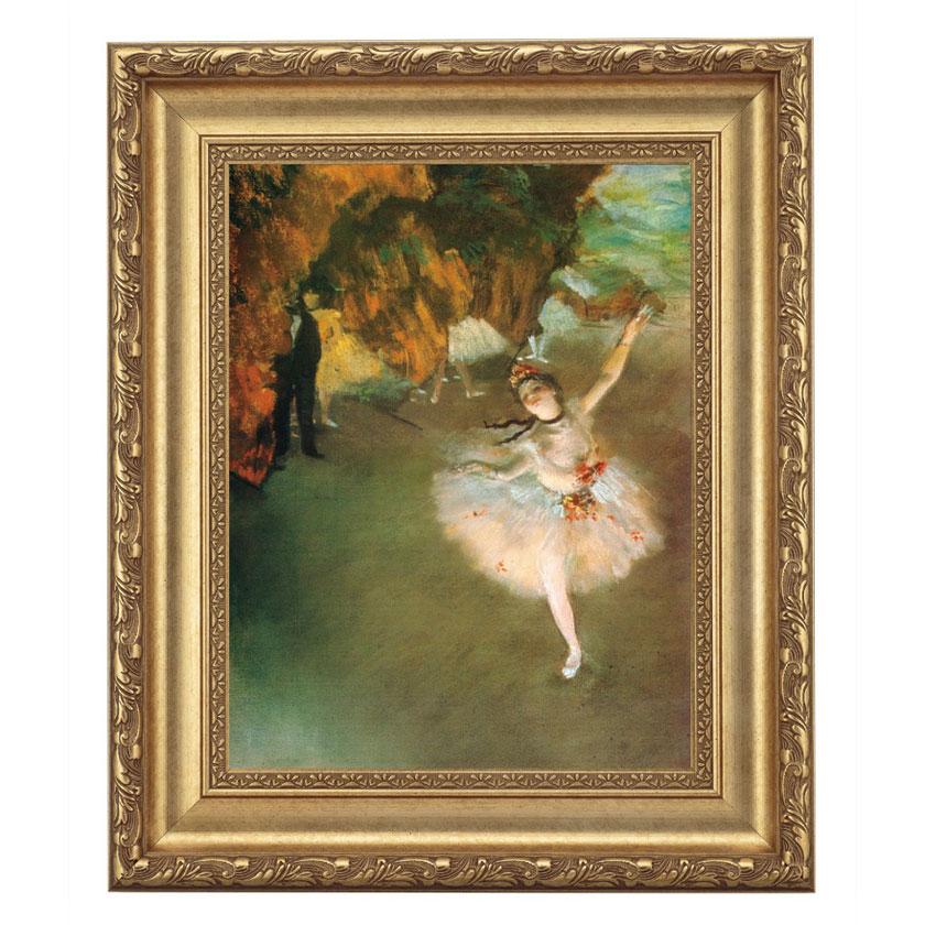 ドガ「舞台の踊り子」 4号サイズ 立体複製名画 美術品 レプリカ