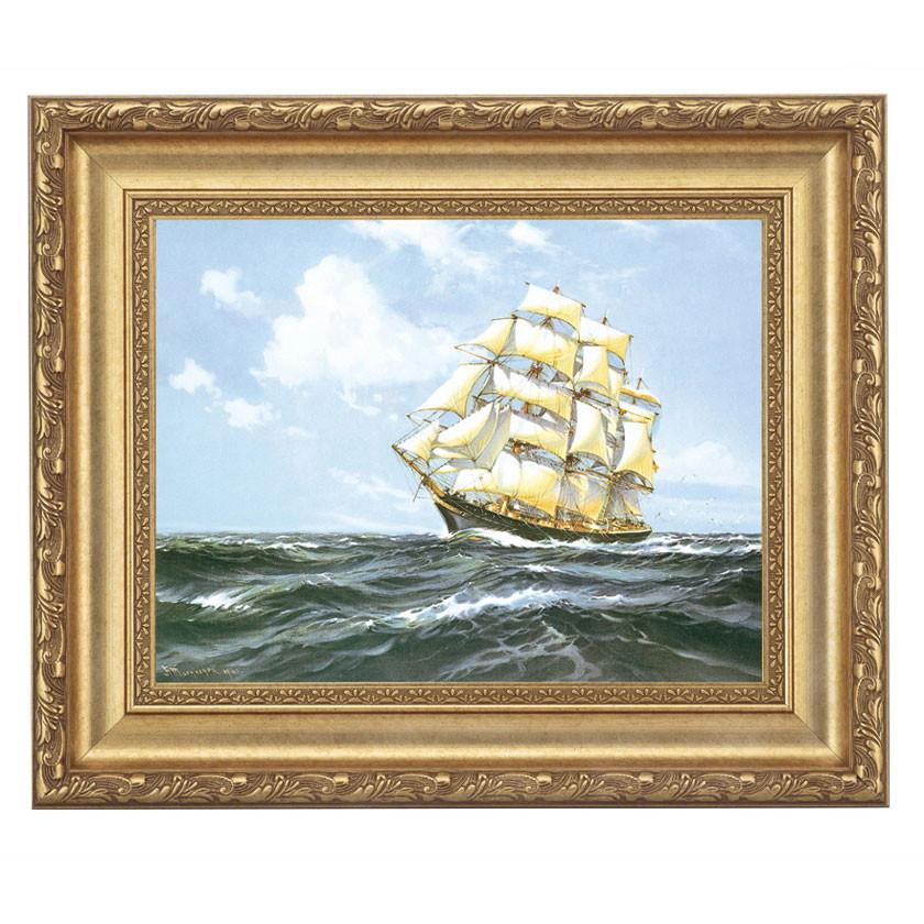 マクレガー「ブルーウォーター」 4号サイズ 立体複製名画 美術品 レプリカ