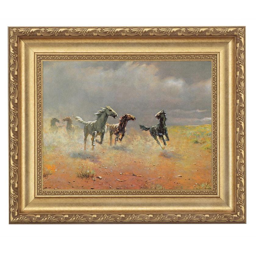アルボー「荒野の群馬」 4号サイズ 立体複製名画 美術品 レプリカ