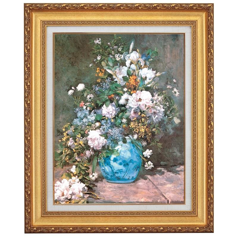 ルノワール 春の花 F10号 立体複製名画 美術品 レプリカ