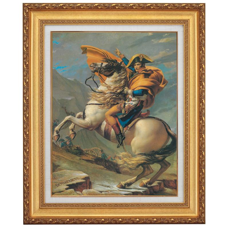 荒馬を冷静に乗りこなす姿 ルイ・ダヴィッド ナポレオン F10号 立体複製名画 美術品 レプリカ