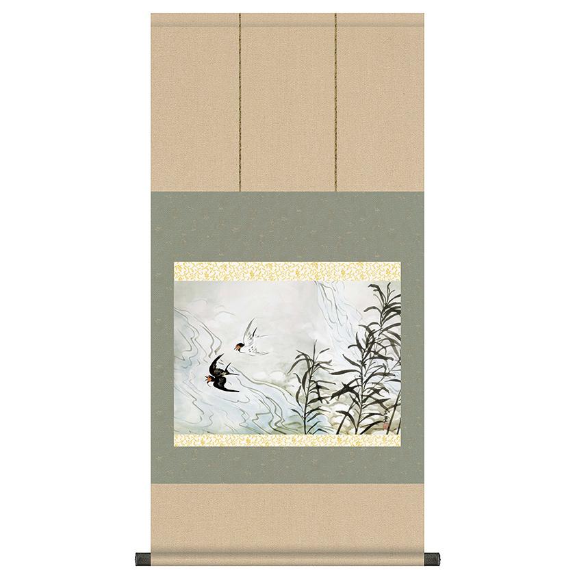 自然を愛した川合玉堂が情緒豊かに描いた花鳥 川合玉堂 有名な 四季花鳥 マート 夏 薫風 掛軸