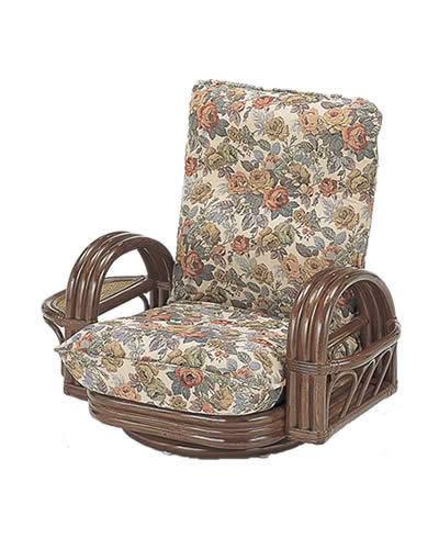 回転座椅子 ロータイプ ラタンチェア S: 籐家具 ラタン 回転 椅子 イス 贈り物 プレゼント ラウンドチェア 送料無料 K-Style