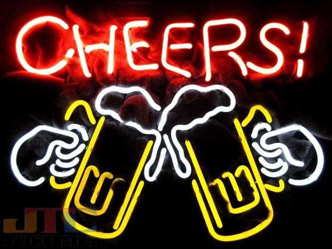 【海外直輸入商品・納期1週間~3週間程度】【全国送料送料無料・沖縄・離島を除く】T830 CHEERS BEERS! ビール BAR ネオン看板 ネオンサイン 広告 店舗用 NEON SIGN アメリカン雑貨 看板 ネオン管