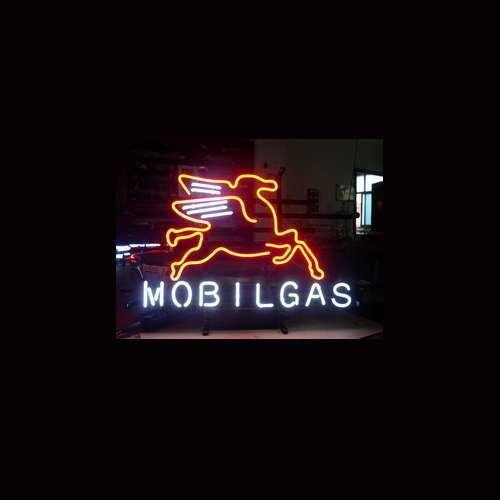 【海外直輸入商品・納期1週間~3週間程度】【全国送料送料無料・沖縄・離島を除く】MOBILGAS モービルガス ネオン看板 ネオンサイン 広告 店舗用 NEON SIGN アメリカン雑貨 看板 ネオン管