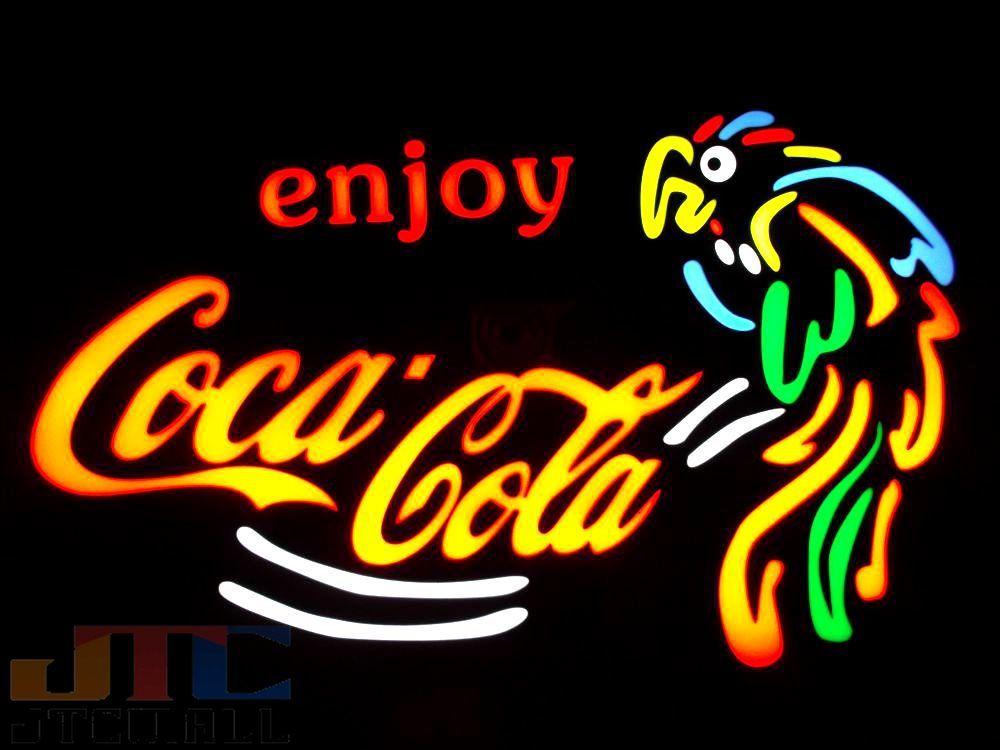 【LED看板はメーカーの生産終了に伴い、今ある在庫限りで販売終了となります。】Coca-Cola コカコーラ オウム LED ネオン看板 ネオンサイン 広告 店舗用 アメリカン雑貨 看板 ネオン管