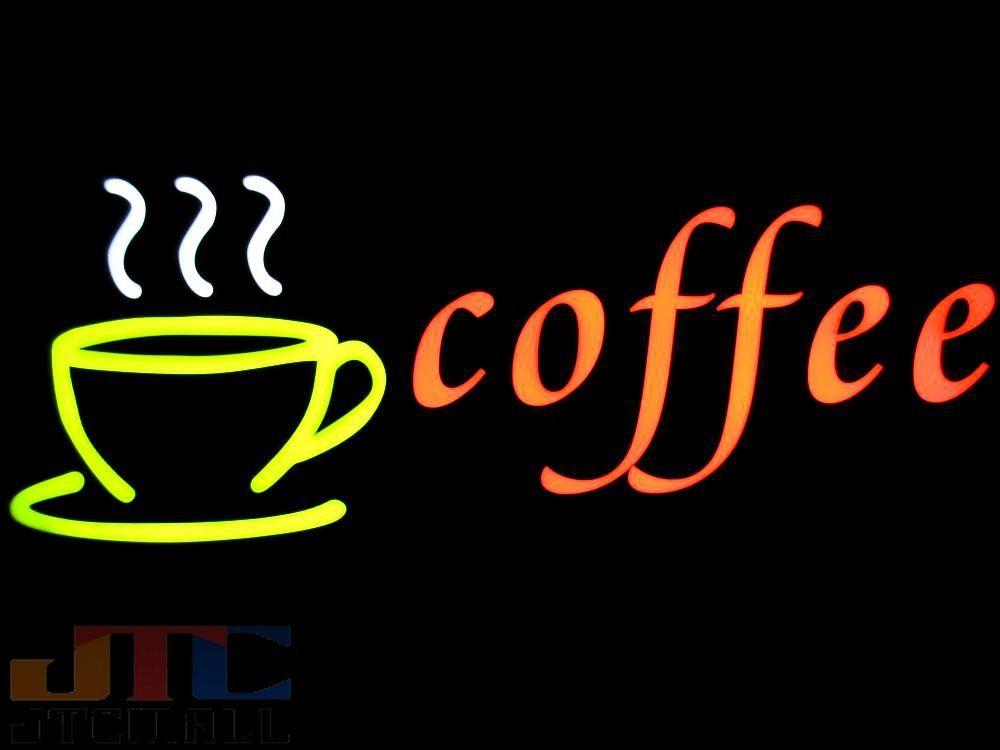 【LED看板はメーカーの生産終了に伴い、今ある在庫限りで販売終了となります。】COFFEE コーヒー ネオン看板 ネオンサイン 広告 店舗用 アメリカン雑貨 看板 ネオン管