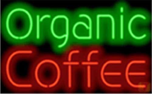 【海外直輸入商品・納期1週間~ 3週間程度】【全国送料送料無料・沖縄・離島を除く】特大ネオンサイン A116 Oragnic Coffee オーガニック コーヒー 広告 店舗用 NEON SIGN アメリカン雑貨 看板 ネオン管
