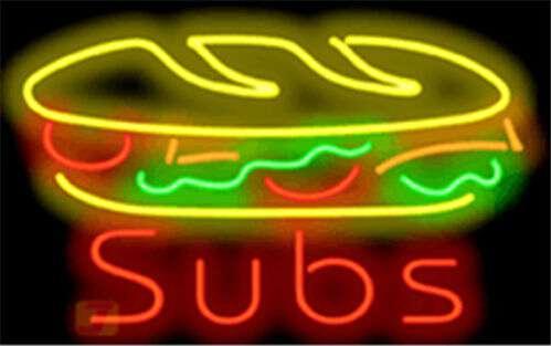 【海外直輸入商品・納期1週間~ 3週間程度】【全国送料送料無料・沖縄・離島を除く】特大ネオンサイン A63 Subs submarine sandwich サブマリン・サンドイッチ 広告 店舗用 NEON SIGN アメリカン雑貨 看板 ネオン管